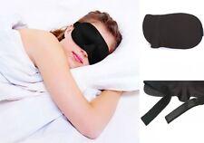 Black Soft Padded Travel Shade Cover Rest Relax Sleeping Blindfold 3D  Eye Mask