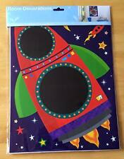 Boys Chalkboard/Blackboard Wall Sticker ~ Bedroom/Playroom ~ Space/Rocket/Stars