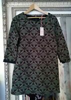 NEW White Stuff Ladies Navy Printed CARLINA Jersey Cotton Mix Tunic Dress UK 10