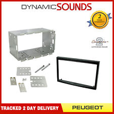 Black Double Din Fascia Adapter Car Stereo Fitting Kit For Peugeot 207 307
