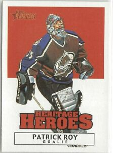 2000-01 Topps Heritage Heroes #HH5 Patrick Roy
