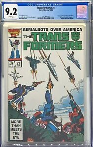 TRANSFORMERS #21 CGC 9.2 : FIRST APPEARANCE AERIALBOTS : SUPERION / SILVERBOLT