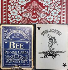 Original Antique Historic BEE Playing Cards 52+Joker NY Poker Deck +Early Box