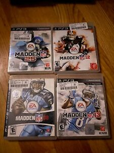 NFL Madden Lot 08 12 13 25 PS3 Used