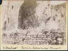 France, Villandraut (Gironde). Ruines du Château du Pape Clement V  Vintage citr