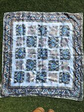 Square Scarf 75cm Blue Pattern
