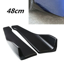 2 Pcs Car Left/Right Rear Deflector Spoiler Splitter Diffuser Bumper Canard Lip
