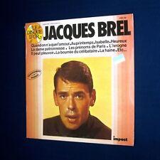 Disque 33t LP Jacques Brel Quand on n'a que l'amour NEUF Scellé sous Blister NOS