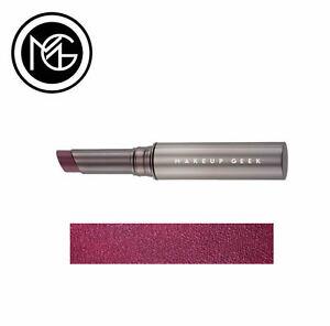 Makeup Geek Iconic Lipstick - SPOILED - cool toned plum, shine finish - VEGAN