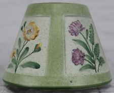 Yankee Candle Small Shade Green Spring Framed Flower Speckle Pink Purple Yellow