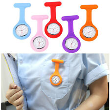 1pcs Silicone Nurse Tools Dial Tunic Brooch Fob Quartz Movement Pocket Watches