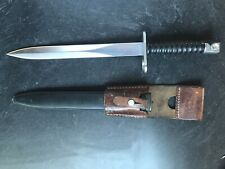 SWISS M 1957 BAYONET WITH SCABBARD AND LEATHER FROG