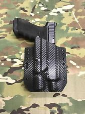 Carbon Fiber Kydex Holster for Glock 17 22 Thread Barrel Surefire X300 Ultra A