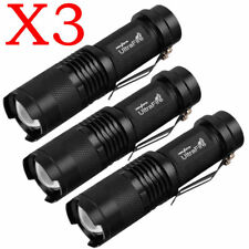 3 x Tactical Flashlight Ultrafire T6 High Powered 3Modes Zoom Aluminum Torch USA