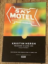More details for kristin hersh (throwing muses) sky motel lp/echo  *rare* 4ad promo postcard 1999