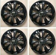 4x Radkappen Radzierblenden 15 Zoll in schwarz für Mini