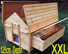 LARGE CHICKEN COOP OPENING ROOF HEN HOUSE POULTRY ARK HOME NEST BOX COUP COOPS