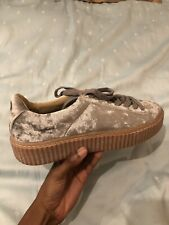 Bebo Grey Suede Creepers Size 8. New Worn Once