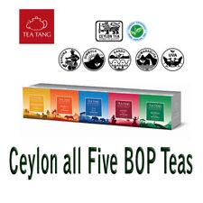 Ceylon Pure Black Loose leaf Tea Tang Brand BOP Grade 100g X 5 All Five Teas