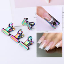 Colorful C Curve Nail Pinching Extended Tips Stainless Steel Finger Clips Tool