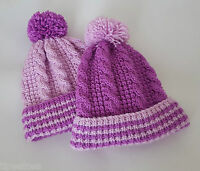 Knitting Pattern DK 62 TO KNIT Baby or Toddlers Hat in 4 Sizes Cabled Winter Hat