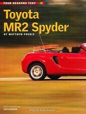 2000 Toyota Mr2 Spyder  Original Car Review Print Article J597