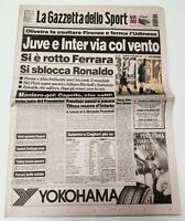 GAZZETTA DELLO SPORT 02 FEBBRAIO 1998 18° GIORNATA CAMPIONATO SERIE A