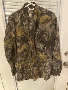 Mossy Oak Apparel Men's Long Sleeve Camouflage Button Down Shirt Mens M Camo