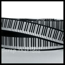 "Piano Keys  RIBBON.  7/8""  Grosgrain.  Scrapbooking/ Craft/ Bows. Perform, Music"