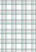 Vintage Wallpaper Plaid Red Blue Green White Imperial BY1382 Double Rolls