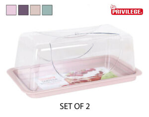 SALE!! 2X Carrier Plastic Cake Storage Container rectangular ASSORTED COLOURS
