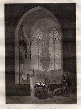 GRAVURE RELIGION / VUE INTERIEURE DE LA CHAPELLE DU St SEPULCRE