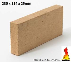 Clay Firebricks Wood fired Pizza Oven High Temperature 230x114x25mm fire brick