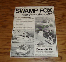 Original Early 1970s Swamp Fox All Terrain Vehicle Sales Sheet Brochure 70 71 72