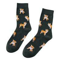 Cute Women Pet Shiba Inu Crew Socks Lovely Dog Pets Cotton Combed Sock Short