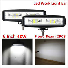 2X 6Inch 80W LED Work Light Flood Beam Bar Driving Fog Lamp Offroad 4WD SUV ATV