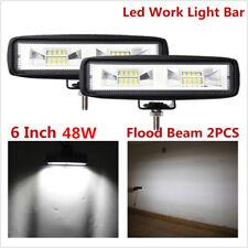 2X 6Inch 80W LED Work Light Flood Beam Bar Driving Fog Lamp Offroad 4WD SUV ATV