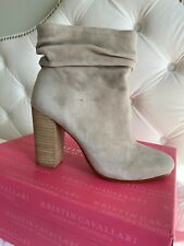 Chinese Laundry Kristin Cavallari Sz 7.5 Gray Tan Taupe Suede Ankle Slouch Boots