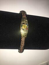Men's Bracelet Wristband Leather Stainless Steel Cuff Braided Bangle Stylish