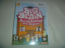 Big Brain Academy Degree (2007) Nintendo Wii Complete Game Good Condition