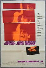 Affiche américaine SEULE DANS LA NUIT Wait until dark AUDREY HEPBURN Alan Arkin