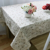Dandelions Floral Table Cloth Cotton Rectangle Tablecloth Table Desk Cover Nett