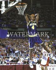 Chris Webber Monster Dunk Tongue Out 8x10 Photo Michigan Wolverines Basketball