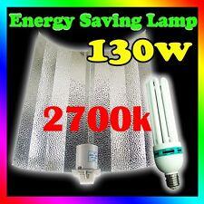 Hydroponics Grow Light CFL 130W 2700k Energy Saving Kit Bat Wing Reflector