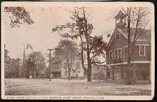NOROTON CT Fire Department Post Office Vintage Postcard