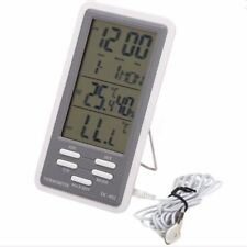 DC-802 Digital Thermometer Hygrometer Temp Humidity Meter Clock Indoor Outdoor