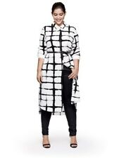 NWT! Adam Lippes Target Black & White Button Down Shirt Long Dress L XL XXL