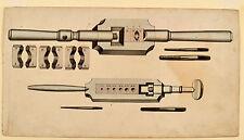 Tornillos de fabricación formadora de roscas viejo schreinerwerkzeug ORIG aquarel 1830