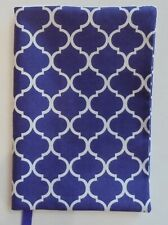 FABRIC Paperback Book Cover Standard Paperback Book Purple & White