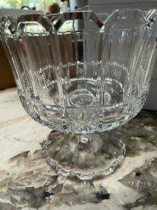 Shannon Crystal by Godinger Lead Crystal Footed Trifle Bowl Beautiful Mint #4632